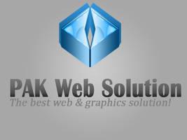 PAK WEB SOLUTION Logo by rameexgfx
