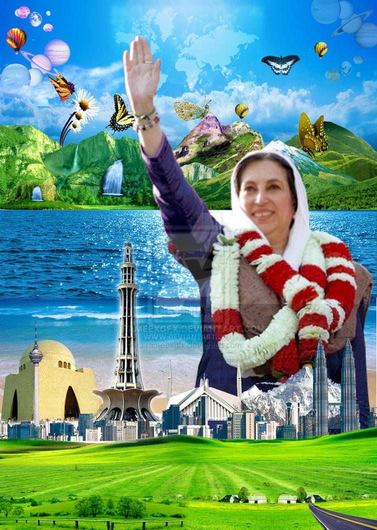 Shaheed Benazir Bhutto World by rameexgfx