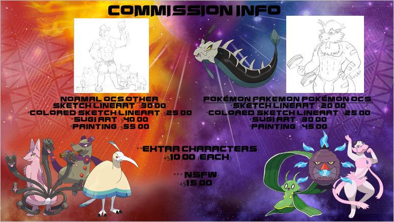 Commissions Sheet