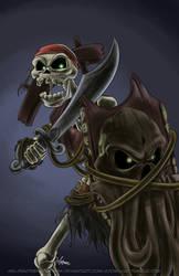 October Skeletons - Spinal by MelissaTheHedgehog