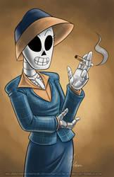 October Skeletons - Mercedes -Meche- Colomar by MelissaTheHedgehog