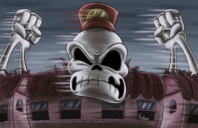 October Skeletons - Skeleton Conductor by MelissaTheHedgehog