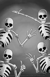 October Skeletons - Skeleton Dance by MelissaTheHedgehog
