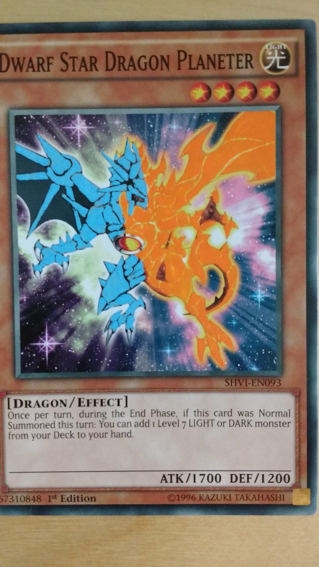 yu gi oh altered art dwarf star dragon planeter by ultimate lol