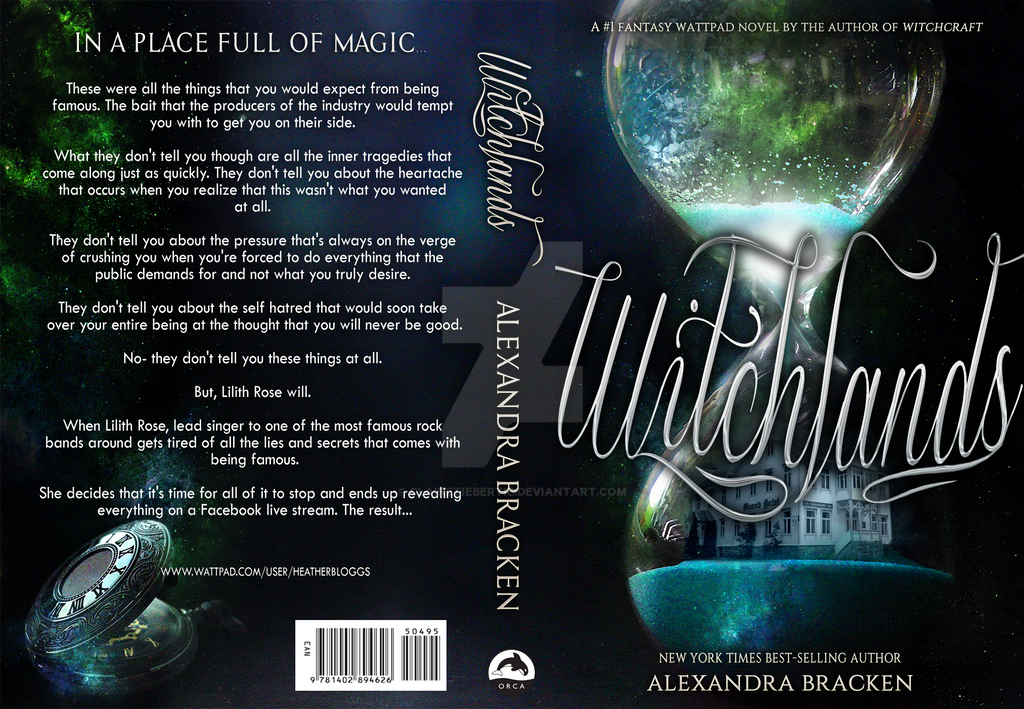 Witchlands cover - commercial use book template by Clairetiebertie