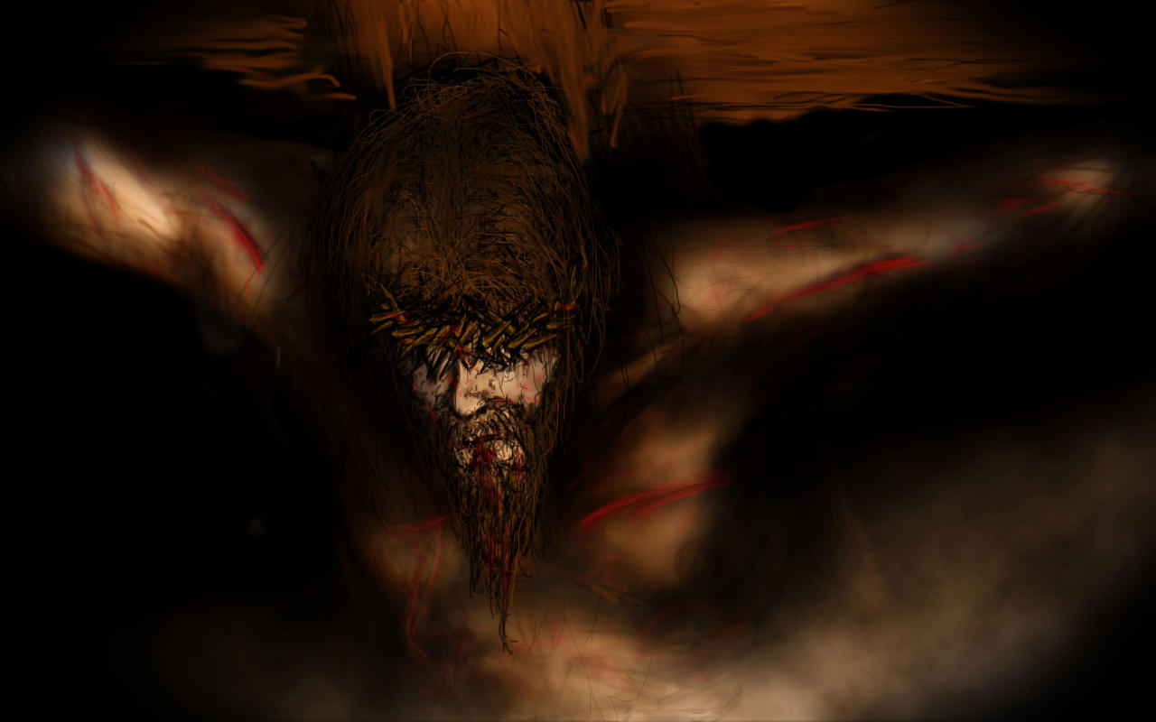 jesus on the cross by dtmccarson on deviantart