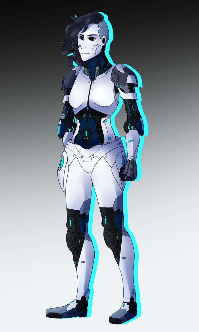 Cyborg Concept Art by Raindete