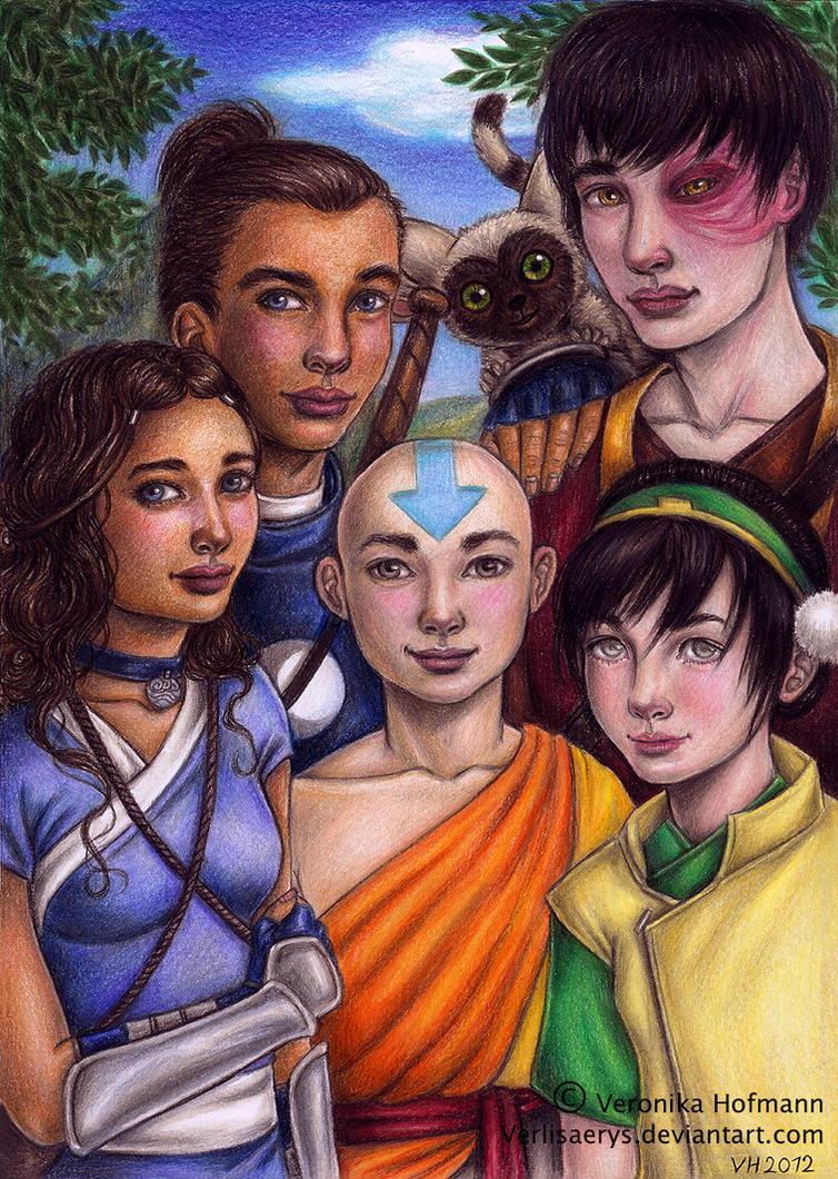 Old Avatar Gaang by Verlisaerys