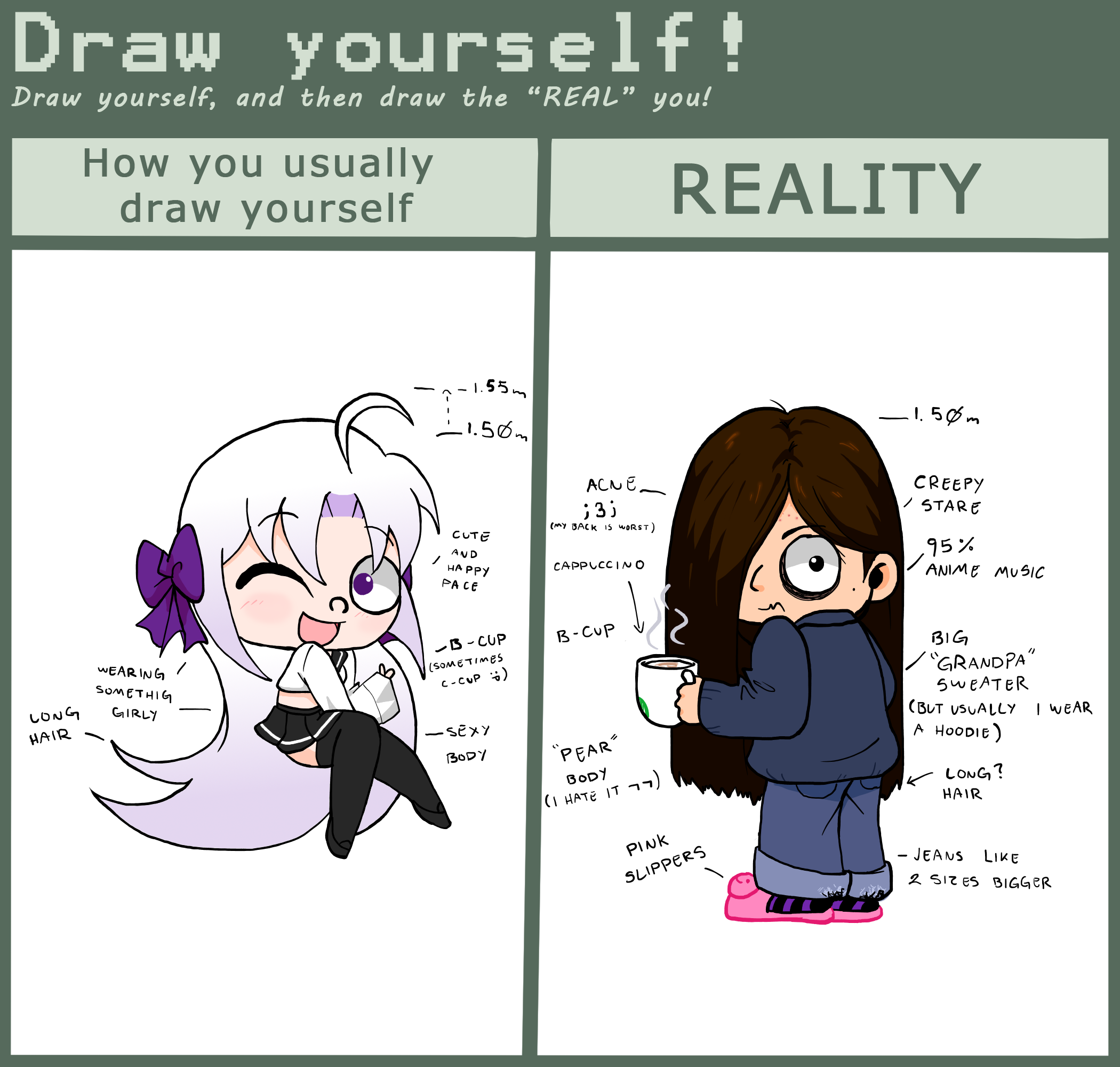 how to draw yourself in anime form