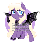 Lace Batpony Adoptable - CLOSED