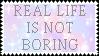 Real Life - Stamp by YokoKinawa