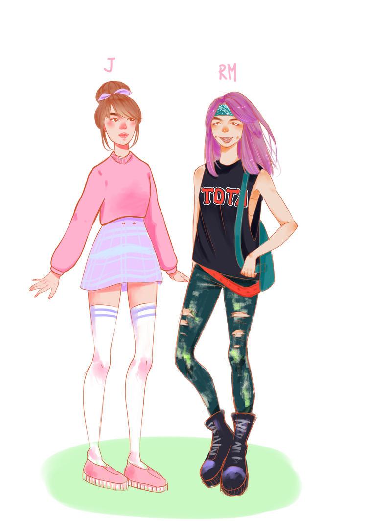 Namjin female version by BraveCatt