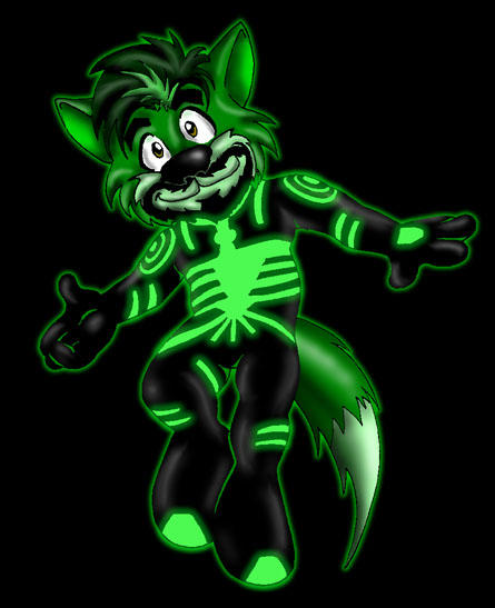 Neon Wolf By Ultrawolf