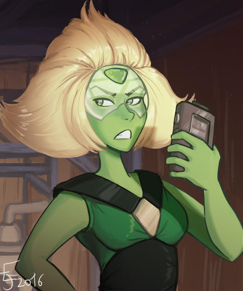 Peridot! My fav character. I spent way too much time on this fan art (totally worth it because Peridot ^^) also learned a lot from this onedone live on stream: twitch.tv/egomanfreeman