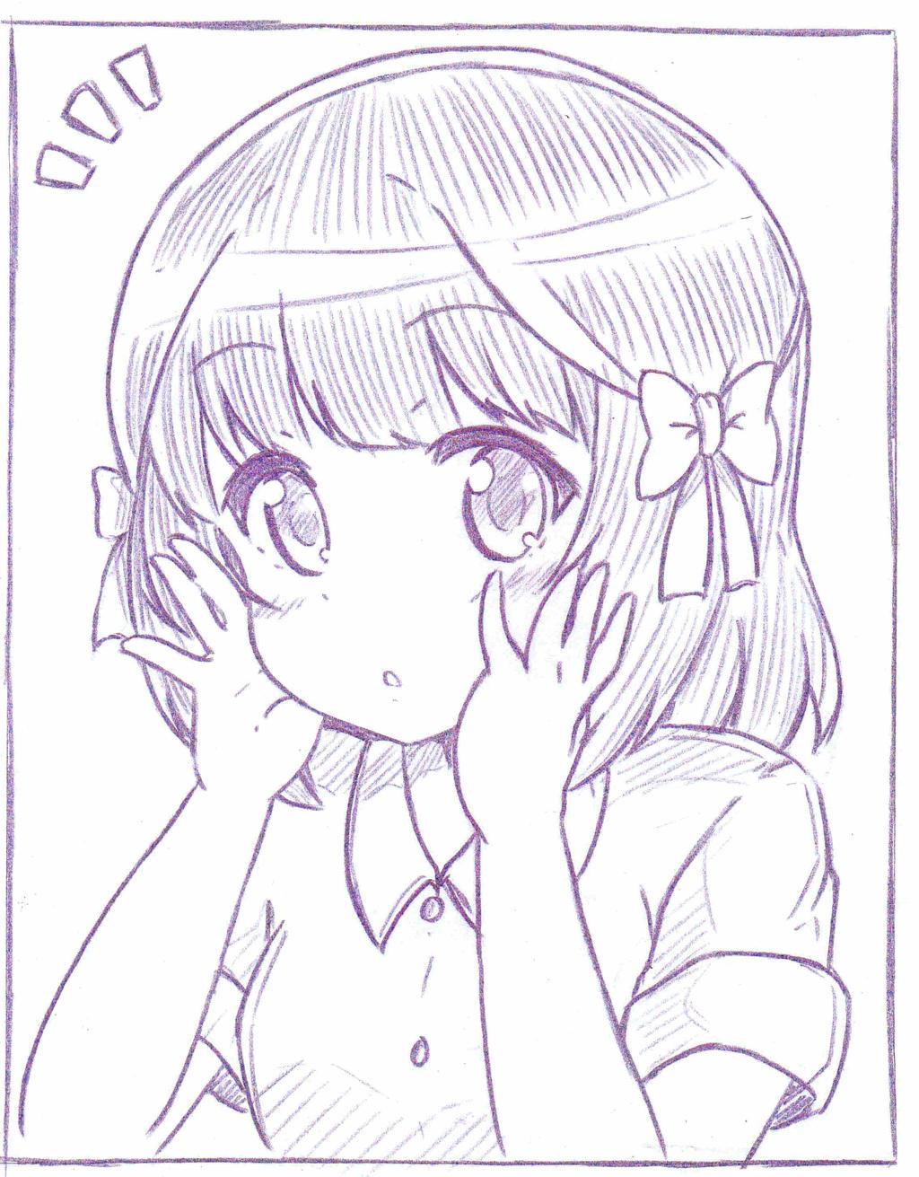 Shiori trying new ribbon. by khai90