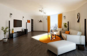 Modern Living Room by Flavius-C