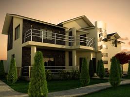Villa exterior by Flavius-C