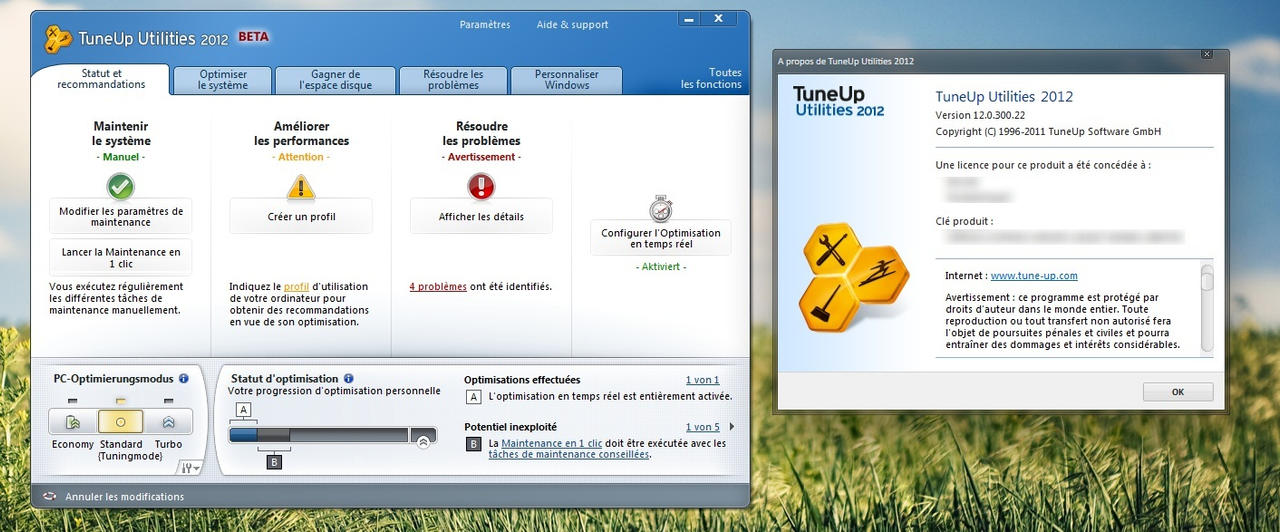 telecharger gratuitement tuneup utilities 2012