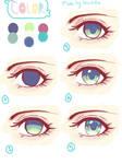Simple Eye Coloring Tutorial