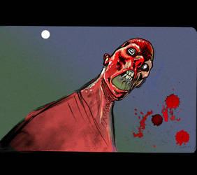 Red Zombie by JHarren