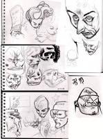 scribbles by JHarren