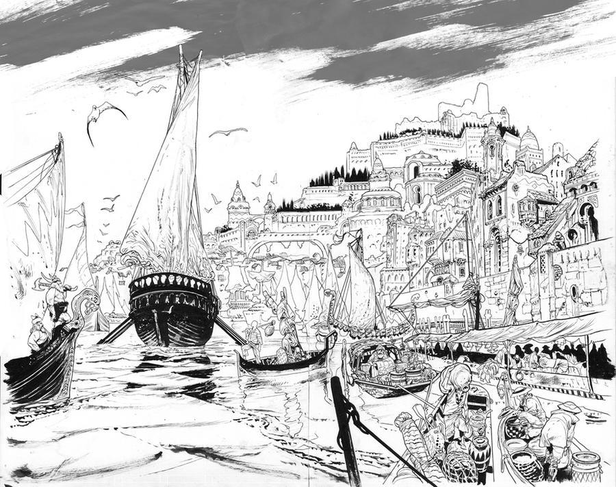 Conan issue 4 spread by JHarren