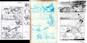 Conan issue 5 page 9 process