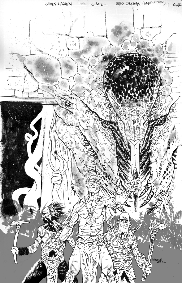 BPRD Abyss of Time cvr 2 inks by JHarren