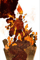 Hellboy 20th color by JHarren