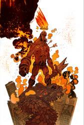 Hellboy 20th color by JHarren