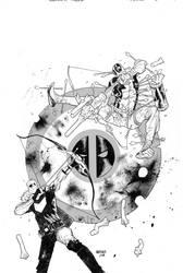 Hawkeye Vs Deadpool cvr 0 by JHarren