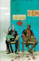 Hawkeye Vs Deadpool cvr by JHarren