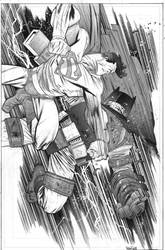 Dark Knight vs Superman commish Heroes by JHarren