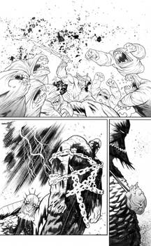 Rumble #6 page 3 inks