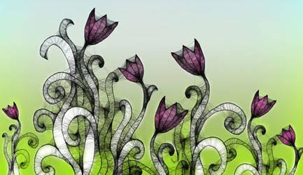 GIMP Spring Flowers Brush