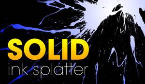 GIMP Solid Ink Splatters