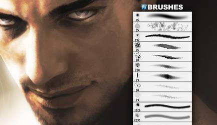 GIMP Scar Face Brushes by GimpBrush