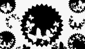 GIMP Butterflies Stickers Brushes
