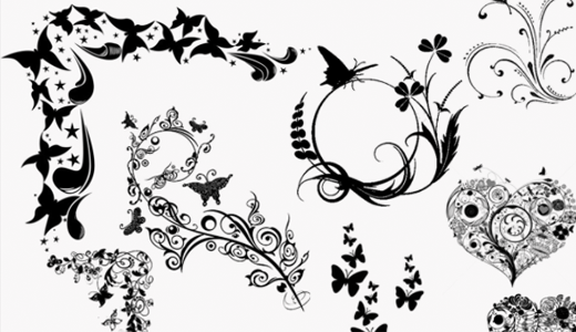 GIMP Hearts and Butterflies Brushes by GimpBrush