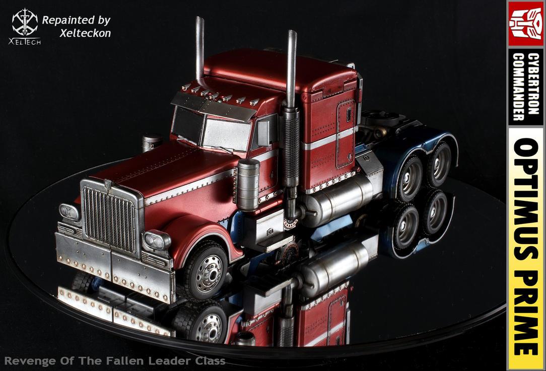 rotf classic redblue optimus prime by xeltecon