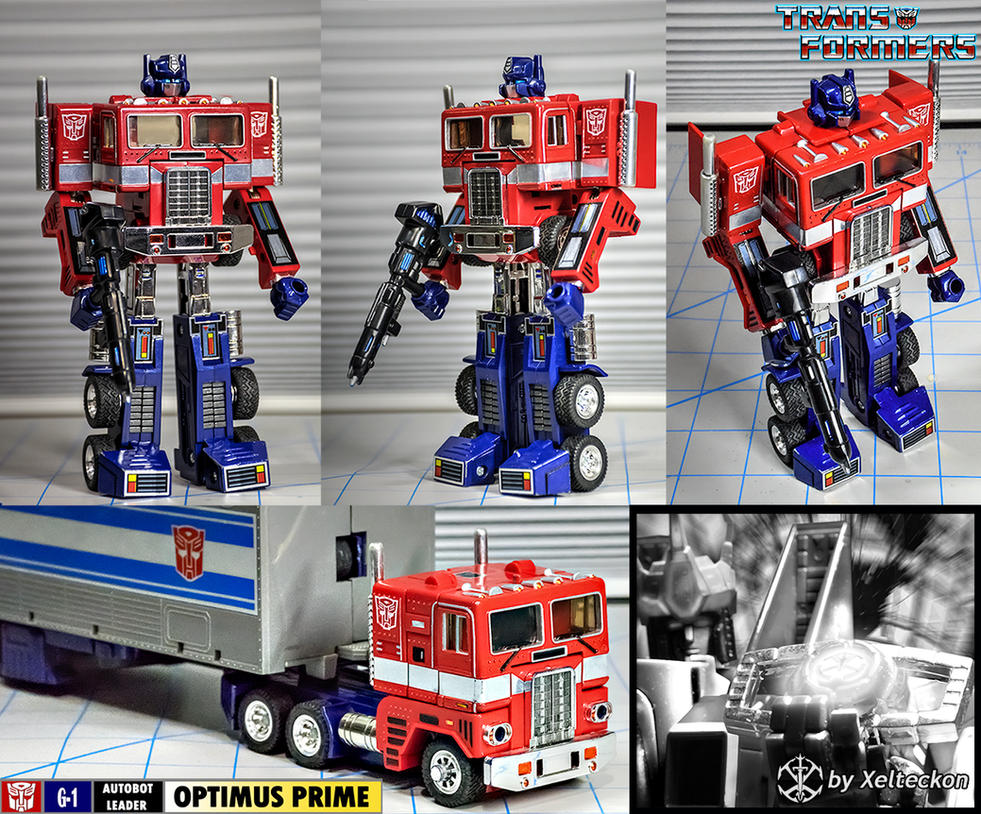 G1 Optimus Prime detailing and touchups by xeltecon