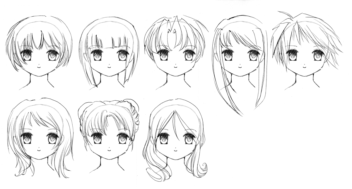 Anime Girl Hairstyles Drawings: Tomboy Anime Girl Drawing Coloring Pages Sketch Coloring Page