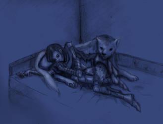 Artorias and Sif | Nightfall by kian