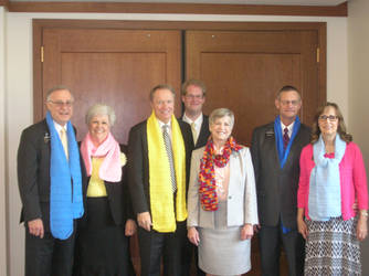 The FCHH Mission Presidency, Spouses and Scarves by JZFranklin