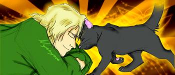 Urahara and Yoruichi the cat by Nyonyooo