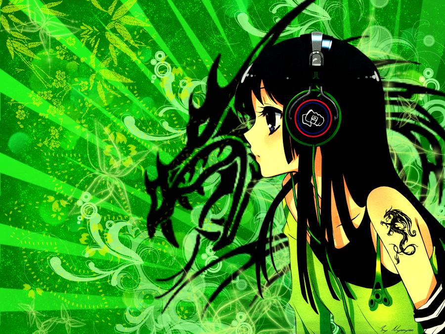 anime rain green wallpaper - photo #32
