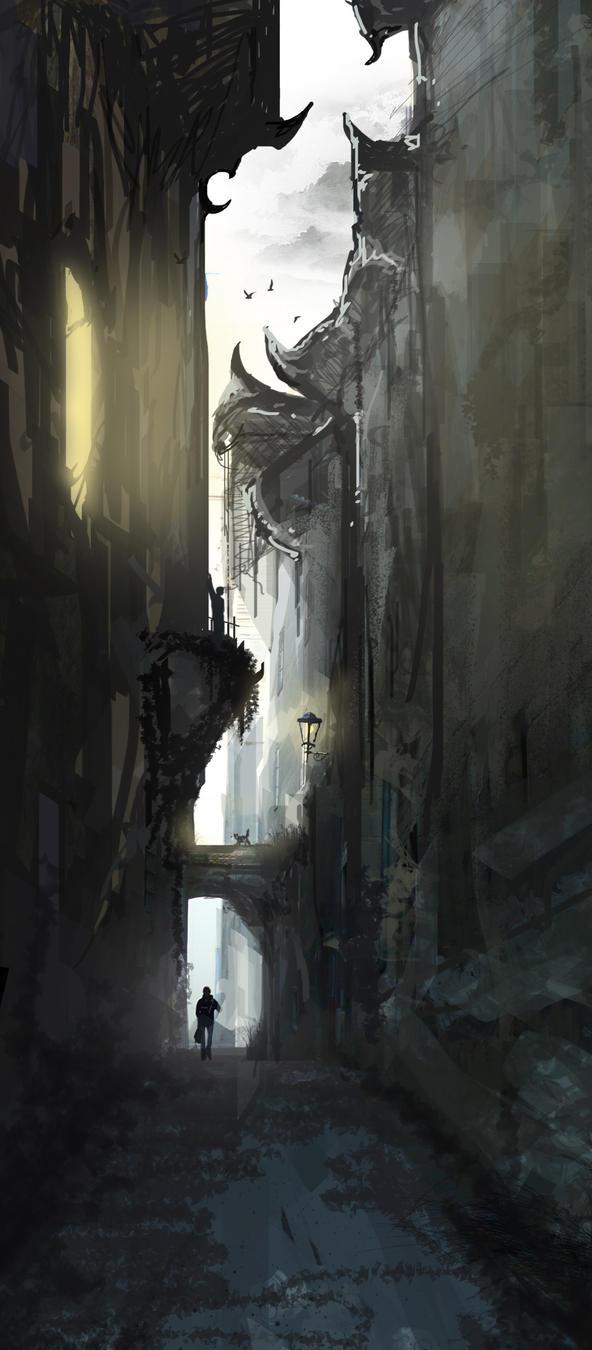 [Trama] El Camino Pródigo Speedpainting_Medieval_street_by_Winerla