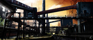 - Industrial Landscape - by Winerla