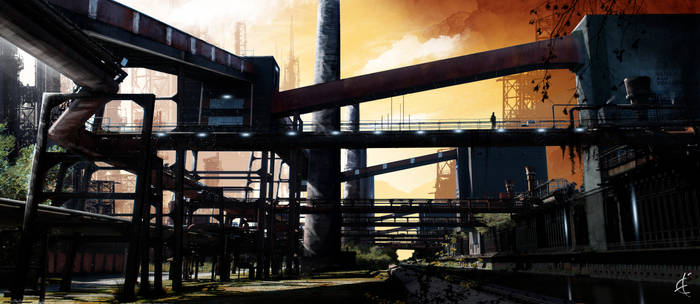 - Industrial Landscape - by Winerla