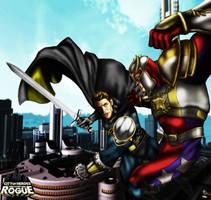Knight Sentinel vs Tyrant by WrestleManiacXXI
